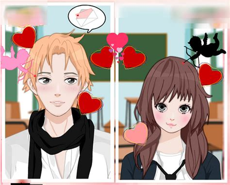 anime kiss maker rinmaru games anime valentine couple creator blythe