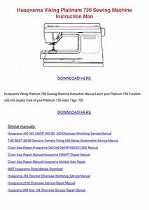 Husqvarna Viking Platinum 730 Sewing Machine By