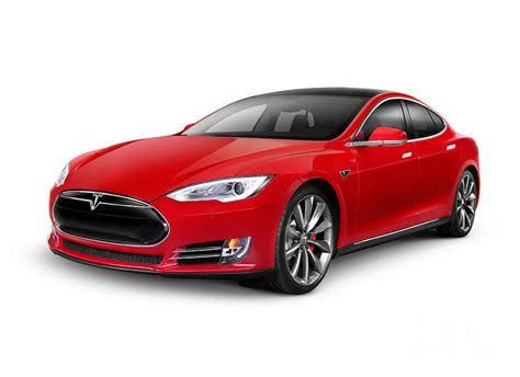 Tesla Model S Red Luxury Electric Car Photograph By