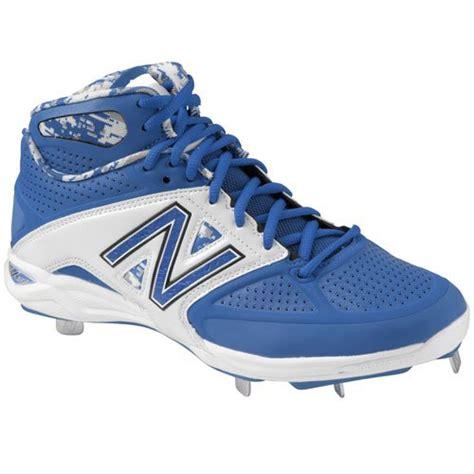 balance mens  mid metal baseball cleats blue