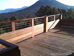 Garde Corps Exterieur Bois : rambarde balustrade rampe d 39 escalier et garde corps en ~ Dailycaller-alerts.com Idées de Décoration