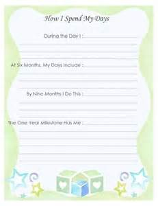 Free Printable Baby Memory Book Pages