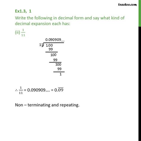 ex 1 3 1 write the following in decimal form and say