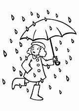 Rain Coloring Pages Books sketch template