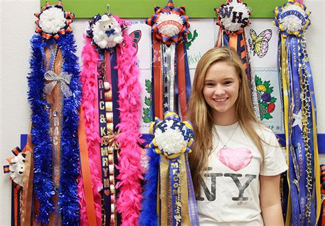 highschool mums floral design students create homecoming mums