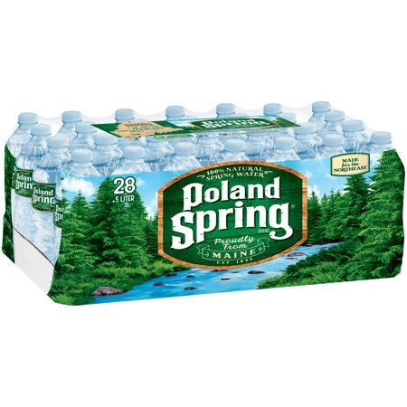 Poland Spring Brand 100% Natural Spring Water, 169ounce