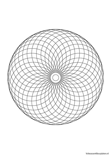 Cirkel Kleurplaten Volwassenen by Volwassen Kleurplaat Mandala 3 Volwassen Kleurplaten