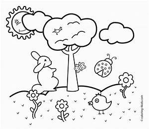 The Images Collection of Drawing spring drawings easy for