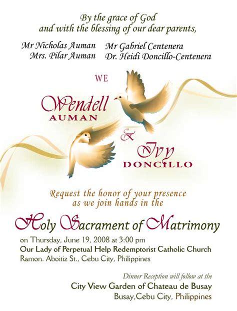 Sample Civil Wedding Invitation   Sunshinebizsolutions.com