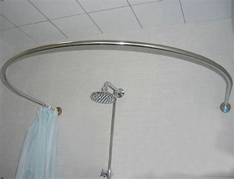 stainless steel u shaped curved shower curtain rod
