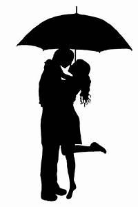 umbrella silhouette couple kiss - Google Search | Let's ...