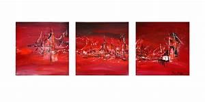 Tableau En 5 Parties : tableau triptyque rouge tableau en 3 parties ~ Dailycaller-alerts.com Idées de Décoration
