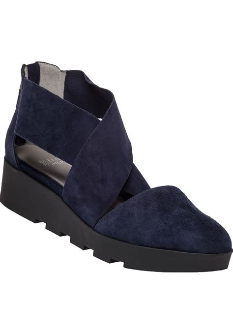 lyst eileen fisher buoy suede wedges  blue