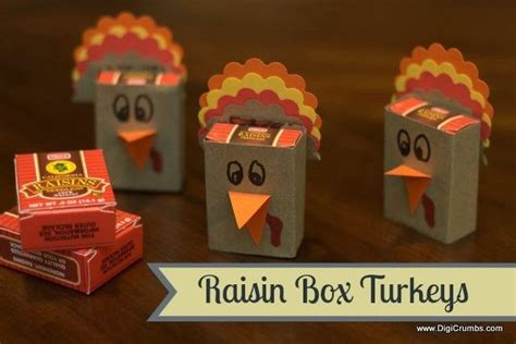 raisin box turkeys thanksgiving preschool class 853 | 17c42d0b0297adf8809ad953ba2254be