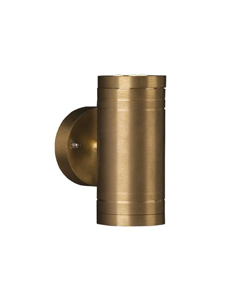 elite 2 light led outdoor up down wall light in solid