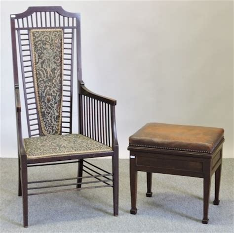 a mahogany high back upholstered arm chair chairs arm
