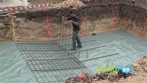 construction piscine coulage de la pente composee d With construire sa piscine en parpaing