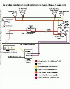 Headlight Wiring Diagram With Relay