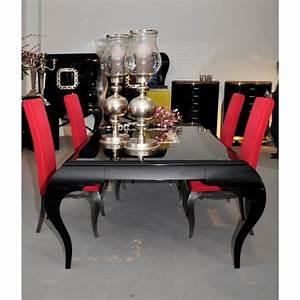 Table Sejour Design : table de s jour de luxe 4 pieds avec ou sans rallonge rectangulaire eiffel et chaise ~ Teatrodelosmanantiales.com Idées de Décoration