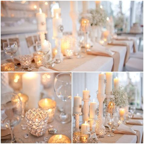 candle centerpieces daytime wedding the knot community