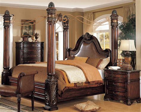 fabiana four poster bedroom collection king bedroom sets