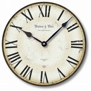 Item C8114 Vintage Style Roman Numeral Clock - Traditional