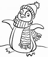 Scarf Coloring Pages Template Winter sketch template