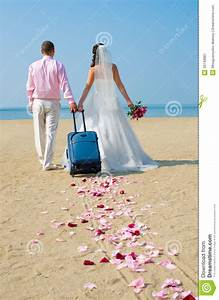 Newly married couple royalty free stock photography for Where to go on a honeymoon