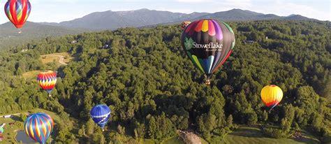 stoweflake balloon festival stoweflake mountain resort