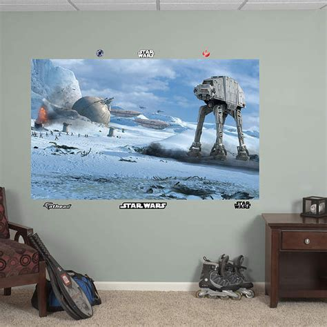 fathead wars battle of hoth wall mural