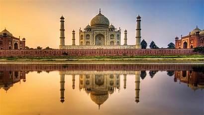 India Mahal Taj Landscape Architecture Water Sunset
