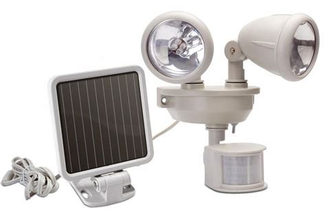 solar motion sensor security light dual