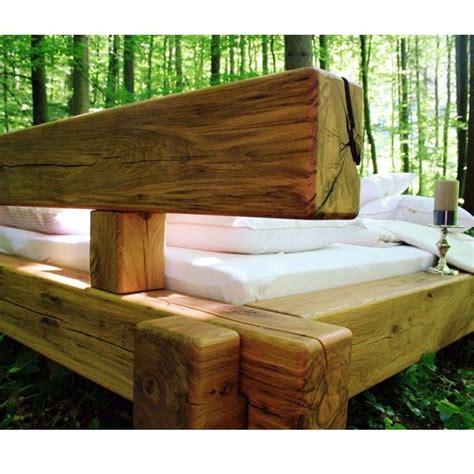bett das mitwächst balkenbett selber bauen balkenbett selber bauen schon bett aus handgehackten altholz balken