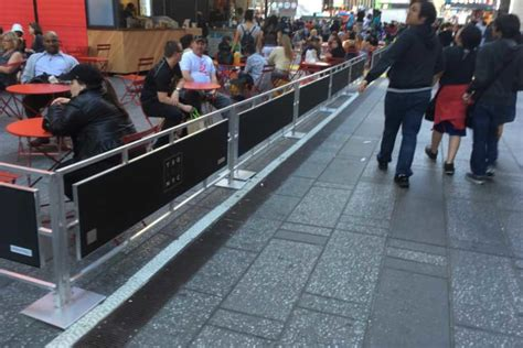 sidewalk partitions barricades awnings  york  york city signs awnings awnings nyc