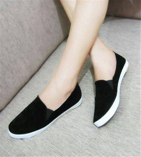 jual flat shoes hitam sepatu casual hitam di lapak my cosmetic myshoes323
