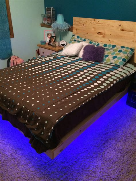 Schwebebett Selber Bauen by How To Build A Diy Floating Bed Frame With Led Lighting