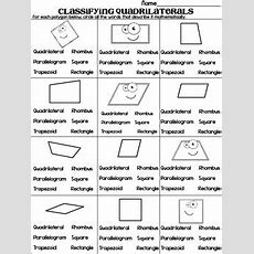 Classifying Quadrilaterals Quadrilateral Quest Game And Practice Sheet