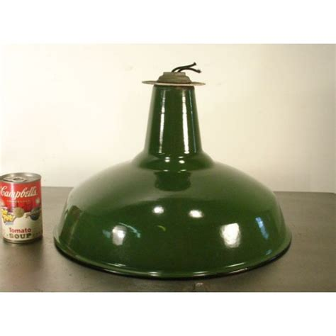 Green Porcelain Antique Barn Light Shades