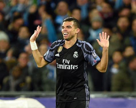 Pepe misses Real Madrid training as Zinedine Zidane's side ...