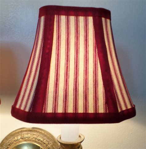 french country l shades french country chandelier shades in a fresh red pillow ticking