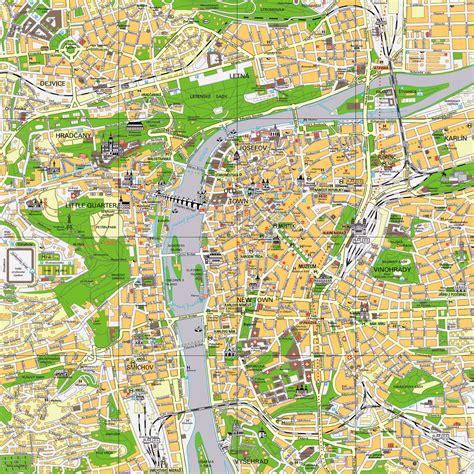 large prague maps     print high