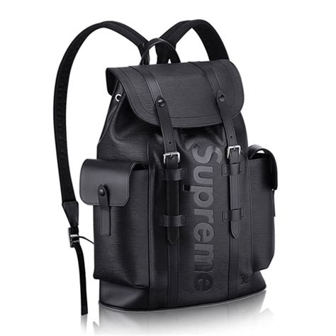 louis vuitton  supreme christopher backpack pm black