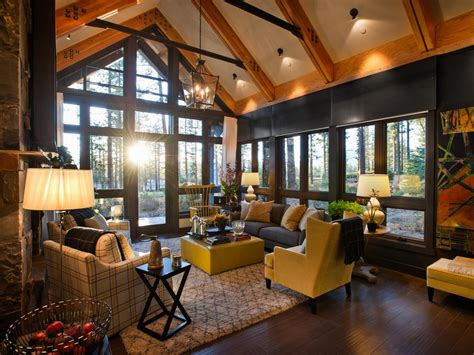 hgtv livingroom grand a frame living room with forest views this