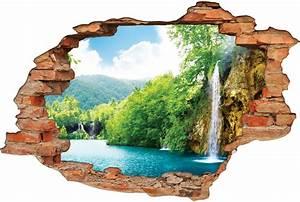Image Trompe L Oeil : stickers trompe l 39 oeil 3d cascade 5 pas cher ~ Melissatoandfro.com Idées de Décoration