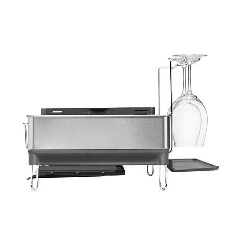 stainless steel dish rack dish rack simplehuman stainless steel frame dish rack
