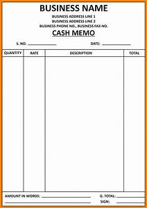 6+ cash bill format in word fancyresume