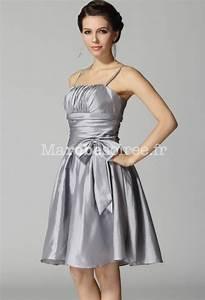 robe de soiree fanny courte bretelles fines en taffetas With robe de cocktail combiné avec bracelet chaine argent