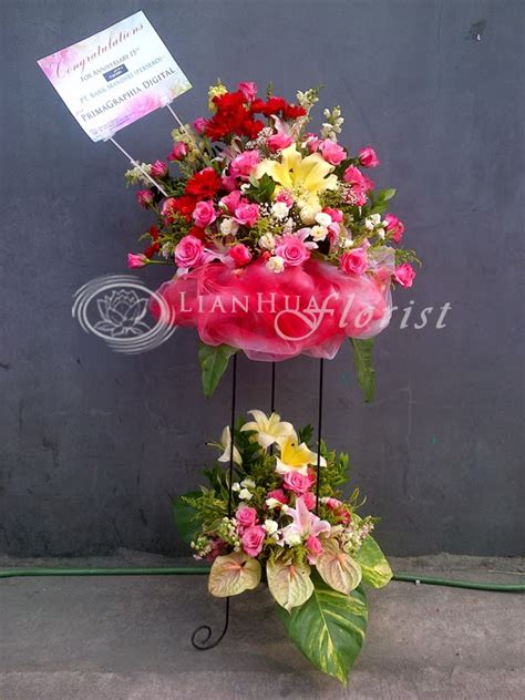 kartu ucapan bouquet bunga ala model