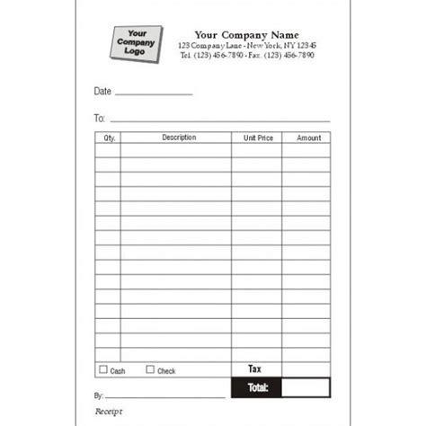 receipt form  printable documents