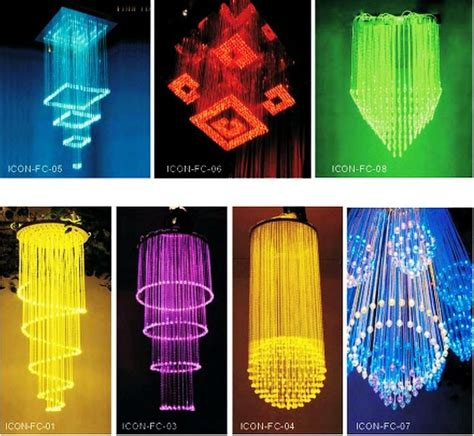 led crystal fiber optic chandelier  freakin cool